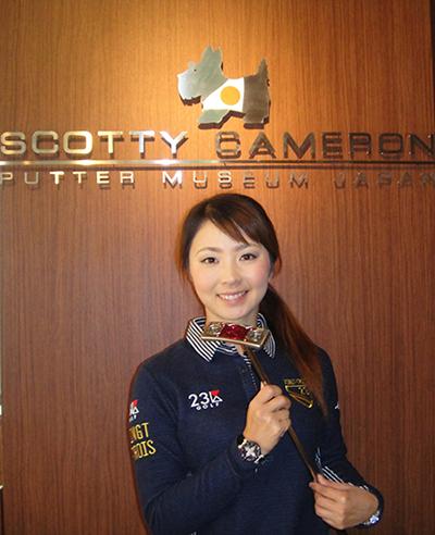 菊地絵理香プロがフィッティングに訪れました。